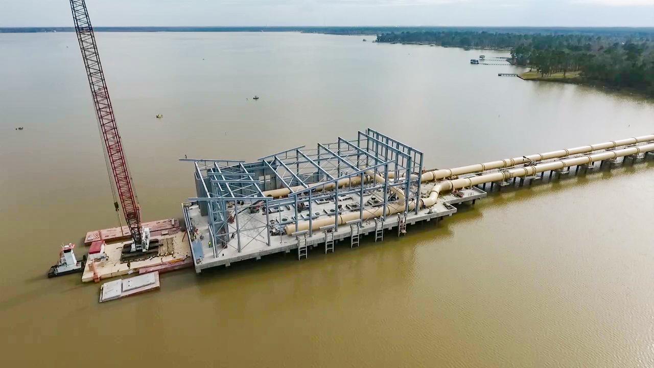 Lake Houston Intake Pump Station Jan 2021