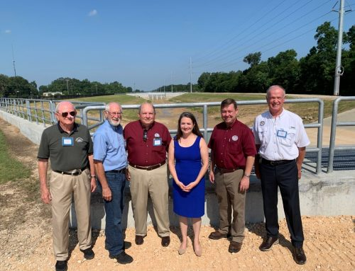 Ribbon-cutting celebrating the completion of the Luce Bayou Interbasin Transfer Project