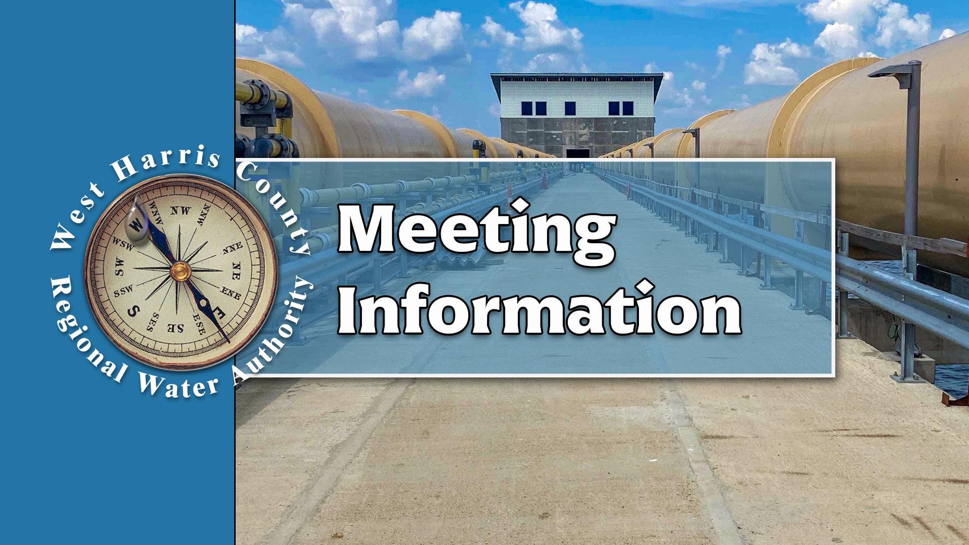 WHCRWA Meeting Information